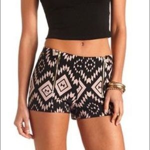Charlotte Russe Tribal Shorts